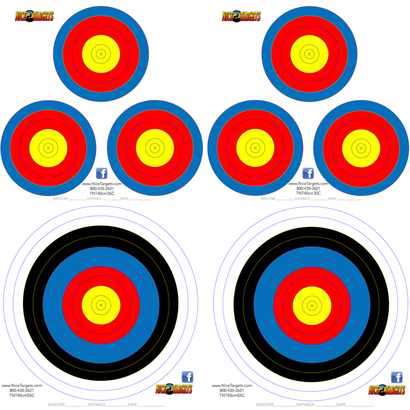 40 40cm Color Spot Target Pack Combo *OUT OF STOCK*