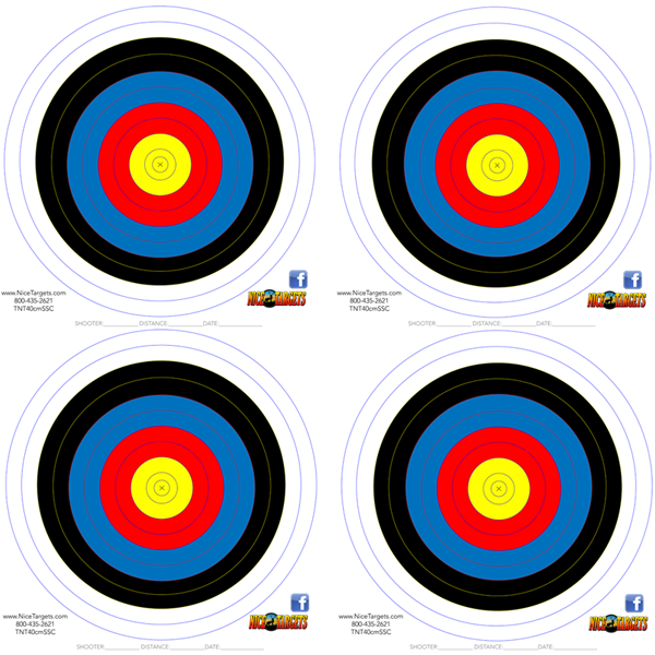 40 40cm Single Spot Color MATTE FINISH Target Pack